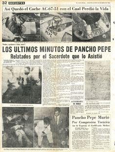Los últimos minutos de Pancho Pepe relatados por el sacerdote que lo asistió. Publicado el 20 de diciembre de 1955.