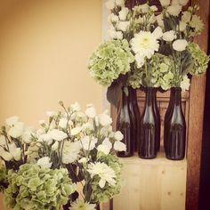 White and green wedding..matrimonio in bianco e verde dal sapore eco chic..