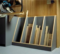 Cut Off Lumber Rack Storage Unit Woodworking Plan, Shop Project Plan | WOOD Store