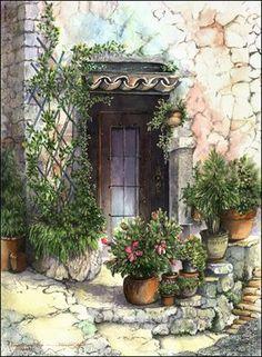 Marian Gault       Watercolor  Para pintar luego