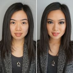 A before and after makeup look from www.jennymabeauty.com!   NYC BRIDAL MAKEUP, wedding makeup, prom makeup, wedding photography, New York and New York City, Asian makeup, Asian bridal makeup NYC