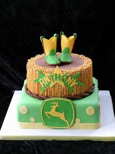 John Deere cake My Cakes Pinterest Cake Birthdays and