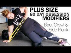 Beginners Plus Size Yoga Modifications - squat figure 4 triangle warrior Plus Size Yoga, Plus Size Workout, Plus Size Fitness, Sport, Bear Crawl, Pilates Video, Pilates Yoga, Fitness Inspiration Body, Fitness Motivation Pictures