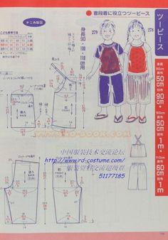 [转载]女童夏装裁剪图2