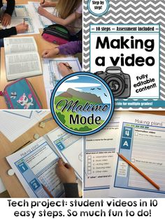 Doing a video projects with students isn't impossible, or even that hard! These steps mapped out the entire process and helped the students stay on track. Assessment and rubric is included.