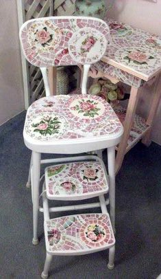 .Have to do this to spruce up kitchen stepladder/stool