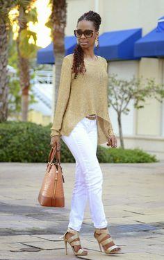 "ecstasymodels: ""Gold Knit Olivia Styles """