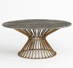 Mid-Century minimalist and Art Deco dessert stand. If only this could be a table design, as well.