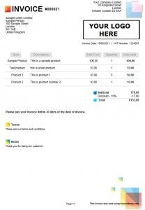 uk sole trader invoice template sample invoices created with our online invoicing software