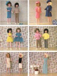 107 Vintage Knitting /& Crochet Pattern doll fashion Sindy Barbie Teenage