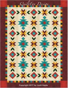 Southwest Inspired Full/Queen size quilt pattern 76 in. x