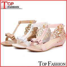 febdb6aebfc7 REAVE CAT Large size 33 43 Women Wedge sandals High quality Rhinestone  Fretwork Buckle Strap Elegant Sweet Summer shoes Cute-in Women s Sandals  from Shoes ...