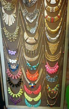 statement necklace storage ideas - Google Search