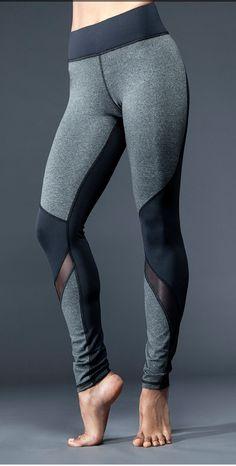Michi Rifical Legging - mesh wrapping and panel fabric mixing