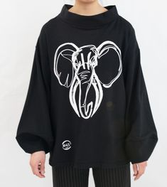 The Elephant in the Jackie Cut - Designed by Object Local. Made and designed in Vancouver. Sustainable Fabrics, Make Design, Vancouver, Elephant, Photo And Video, Sweaters, Clothes, Instagram, Fashion