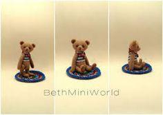 Znalezione obrazy dla zapytania dollhouses miniatures figurine teddy bear 1:12