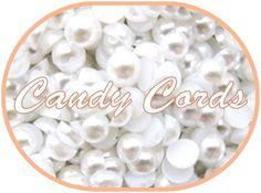 100 - 8mm WHITE Flatback Pearls Embellishments Scrapbooking Letter Art UK