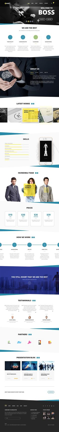Boss — Modern Agency and Business WordPress Theme