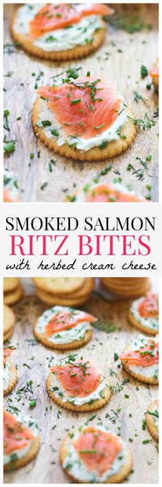 #ad Smoked Salmon RITZ bites with Herbed Cream Cheese - Five minutes to make, five seconds to disappear...