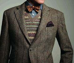 Tweed and Fair Isle - a great combination.