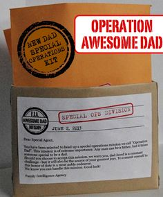 "Creative ""Try""als: New Dad Special Operations Kit....Adrian this you have to do....so cool!!!! Consider it!!!"
