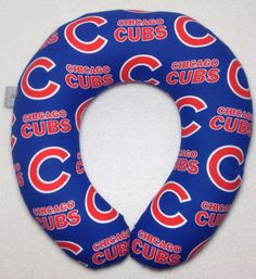 Chicago Cubs Travel/Neck Pillow by AuntShellDesigns on Etsy
