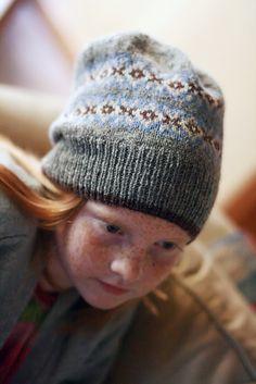 pattern 'Seasons Hat' by Jared Flood Size Medium/Large Slouchy  21.7 yards (19.8m) of Brooklyn tweed Harrisville Designs Shetland Yarn