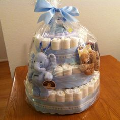 My first diaper cake!