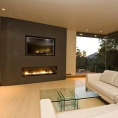 Living Room With TV And Fireplace Ideas.Diy Faux Fireplace Mantle Love All The Storage! Ideas: Best Electric Fireplaces At Lowes For Living Room . Half Wall With Stone Fireplace Fireplace For Dining Room . Contemporary Fireplace Designs, Contemporary Stairs, Contemporary Cottage, Contemporary Apartment, Contemporary Interior, Contemporary Architecture, Modern Fireplaces, Gas Fireplaces, Contemporary Chandelier