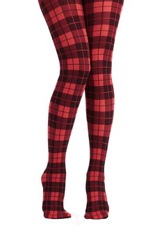 Amazing Assistant Tights in Red. You bump a few paces ahead on your path to professorship by stepping into the classroom wearing these smart plaid tights! Plaid Tights, Cute Tights, Fashion Tights, Fall Accessories, Sexy Stockings, Tight Leggings, Red Plaid, Tartan, Modcloth