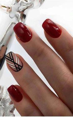 Burgundy Nail Designs, Burgundy Nail Art, Black Nail Art, White Nail Designs, Nail Art Designs, Burgundy Color, Elegant Nail Art, Pretty Nail Art, Red Nails