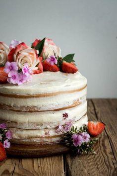 Vegan Vanilla and Berry Layer Cake.