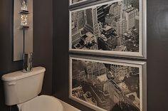 ::: FOCAL POINT :::: Rental Decor: Small Bath Space + Awkward Window Challenge