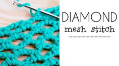 How to crochet the diamond mesh stitch. A simple, nice and easy lace stitch. Work it with cotton, rayon, viscose or any kind of summer yarn! Ideal for croche...