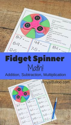 Fidget spinners are the hot new toys and we are trying to make them m ore useful for us!  So fidget spinner math is where it's at!