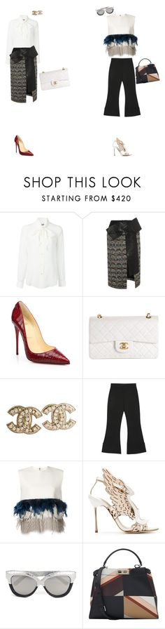 """Stay Chic"" by maries on Polyvore featuring Moschino, Alexander McQueen, Christian Louboutin, Chanel, Victoria, Victoria Beckham, Dsquared2, Sophia Webster, Linda Farrow and Fendi"