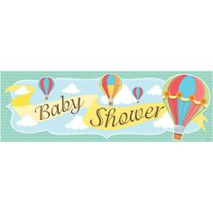 Up, Up & Away Giant Party Banners-Napkins.com - Hot Air Balloon Baby Shower