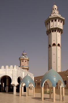 Minaret of Great Mosque of Touba, Senegal