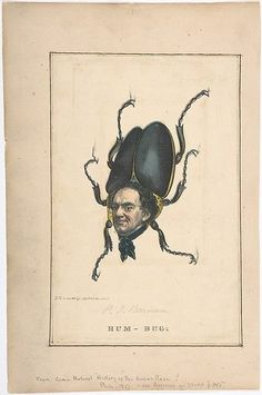 Henry Louis Stephens (American, 1824–1882). Hum-Bug (P. T. Barnum), from the Comic Natural History of the Human Race, 1851. The Metropolitan Museum of Art, New York. The Elisha Whittelsey Collection, The Elisha Whittelsey Fund, 1953 (53.607(38))