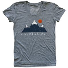 Coloradical - Coloradical Vintage Three Mountain T-Shirt Women's Colorado Flag