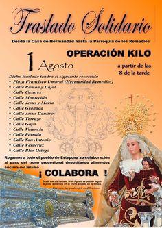 TRASLADO SOLIDARIO: OPERACIÓN KILO │ Rogamos a todo el pueblo de Estepona su colaboración al paso del trono procesional depositando alimentos encima del mismo, ¡ COLABORA ! – estepona en la web