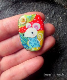 jasmin french ' mausimausi ' lampwork focal by jasminfrench