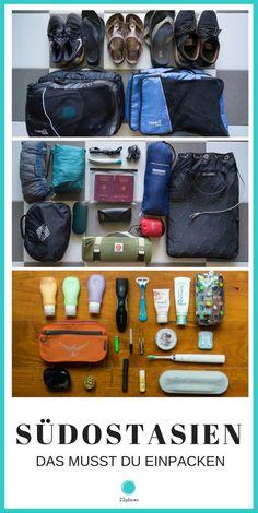 Packliste Südostasien – Was musst du einpacken? Wir zeigen dir den kompletten Inhalt unserer Rucksäcke und geben dir viele praktische Tipps zum Packen für dein Südostasien Abenteuer.
