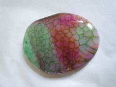 Colorful Dragons Vein Agate Focal Pendant Jewelry by InfinitysMuse
