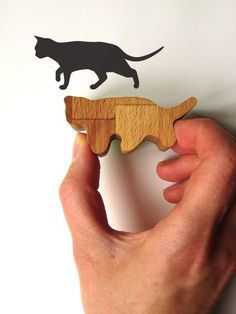Wooden Handled Prowling Cat Rubber Stamp by jolyonyates on #Etsy
