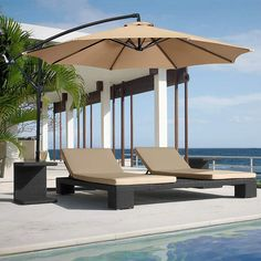 Premium and Heavy-duty Beige Polyester Fabric - The offset umbrella surface is made of anti-UV 100% POLYESTER FABRIC (200g in weight), providing at least 98% UV PROTECTION. Cantilever Patio Umbrella, Best Patio Umbrella, Patio Umbrella Stand, Offset Patio Umbrella, Market Umbrella, Umbrella Holder, Hammock Stand, Pool Umbrellas, Outdoor Patio Umbrellas