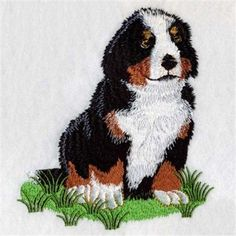 embroidery designs bernese mountain dogs | Machine Embroidery ...