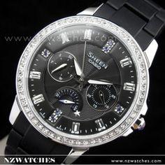 BUY Casio Sheen Cruise line SWAROVSKI ELEMENTS Ladies Watch SHE-3023-1A, SHE3023 - Buy Watches Online | CASIO NZ Watches