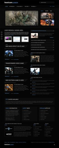 Best Game Website Images On Pinterest Web Layout Website - Game design websites