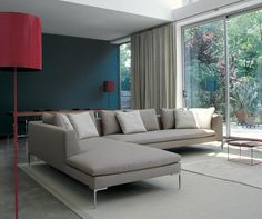 Living Room sofa -- chaise on left. Sofa: CHARLES - Collection: B&B Italia - Design: Antonio Citterio Modular Furniture, Modular Sofa, Sofa Furniture, Canapé Design, Sofa Design, Living Room Trends, Living Room Sofa, Living Rooms, B&b Italia Sofa